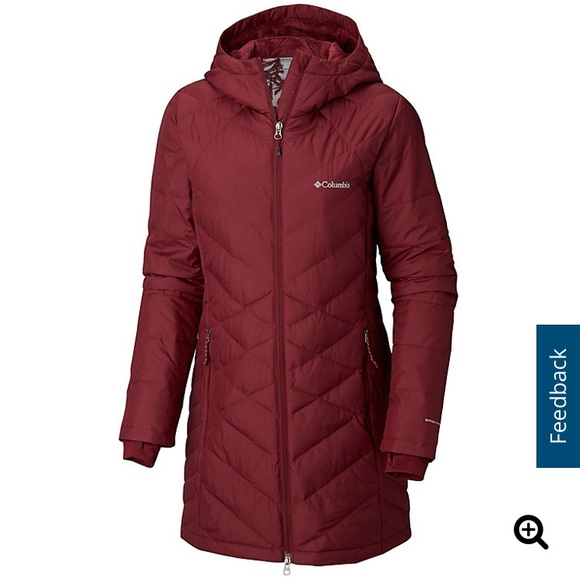 df73af7445f Colombia Heavenly long hooded jacket. NWT. Columbia